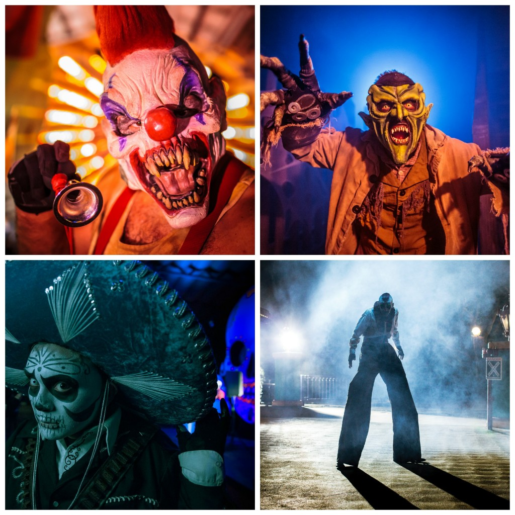 scare zone collage