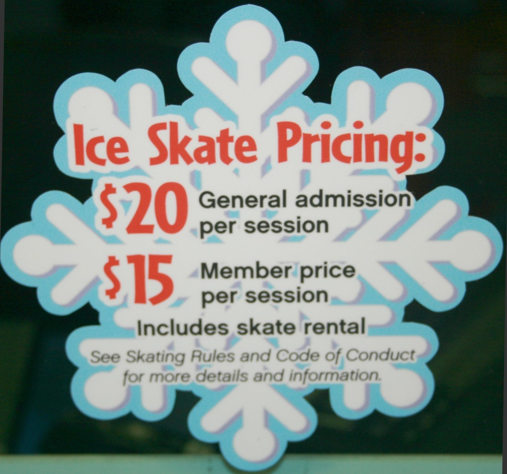 Ice Skating Pricing