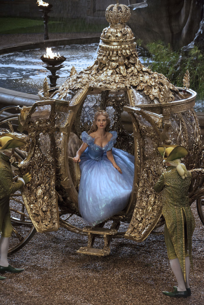Lily James is Cinderella in Disney's live-action feature inspired by the classic fairy tale, CINDERELLA, which brings to life the timeless images in Disney's 1950 animated masterpiece as fully-realized characters in a visually-dazzlling spectacle for a whole new generation.